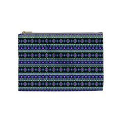 Fancy Tribal Border Pattern 17d Cosmetic Bag (medium)  by MoreColorsinLife
