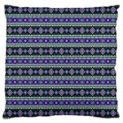 Fancy Tribal Border Pattern 17d Large Cushion Case (one Side) by MoreColorsinLife