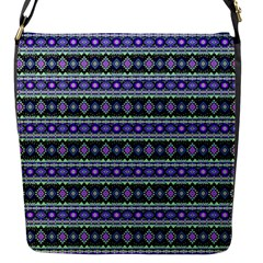 Fancy Tribal Border Pattern 17d Flap Messenger Bag (s) by MoreColorsinLife