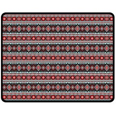 Fancy Tribal Border Pattern 17f Fleece Blanket (medium)  by MoreColorsinLife