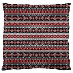Fancy Tribal Border Pattern 17f Large Cushion Case (one Side) by MoreColorsinLife