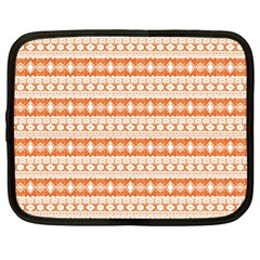 Fancy Tribal Border Pattern 17i Netbook Case (xl)  by MoreColorsinLife