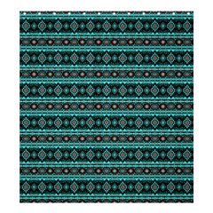 Fancy Tribal Border Pattern 17g Shower Curtain 66  X 72  (large)  by MoreColorsinLife