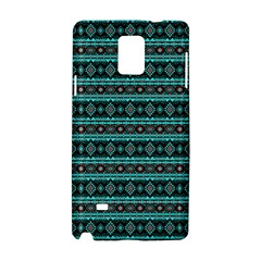 Fancy Tribal Border Pattern 17g Samsung Galaxy Note 4 Hardshell Case by MoreColorsinLife