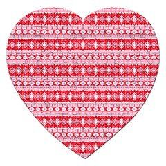 Fancy Tribal Border Pattern 17h Jigsaw Puzzle (heart) by MoreColorsinLife