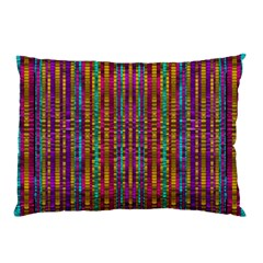 Star Fall In  Retro Peacock Colors Pillow Case (two Sides) by pepitasart