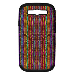 Star Fall In  Retro Peacock Colors Samsung Galaxy S Iii Hardshell Case (pc+silicone) by pepitasart
