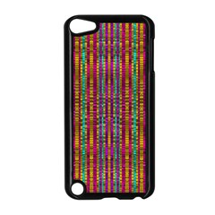 Star Fall In  Retro Peacock Colors Apple Ipod Touch 5 Case (black) by pepitasart