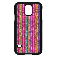 Star Fall In  Retro Peacock Colors Samsung Galaxy S5 Case (black) by pepitasart