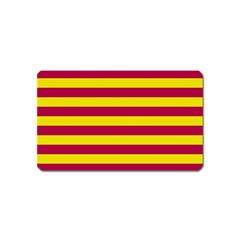 Red & Yellow Stripesi Magnet (name Card) by norastpatrick