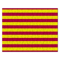 Red & Yellow Stripesi Rectangular Jigsaw Puzzl by norastpatrick