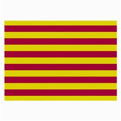 Red & Yellow Stripesi Large Glasses Cloth (2-side) by norastpatrick