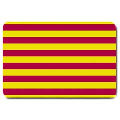 Red & Yellow Stripesi Large Doormat  by norastpatrick