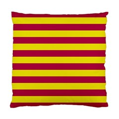 Red & Yellow Stripesi Standard Cushion Case (two Sides) by norastpatrick