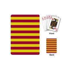 Red & Yellow Stripesi Playing Cards (mini)  by norastpatrick