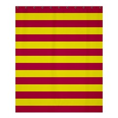 Red & Yellow Stripesi Shower Curtain 60  X 72  (medium)  by norastpatrick