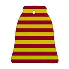 Red & Yellow Stripesi Ornament (bell) by norastpatrick