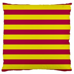 Red & Yellow Stripesi Large Cushion Case (two Sides) by norastpatrick