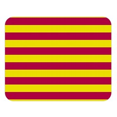 Red & Yellow Stripesi Double Sided Flano Blanket (large)  by norastpatrick