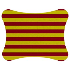 Red & Yellow Stripesi Jigsaw Puzzle Photo Stand (bow) by norastpatrick