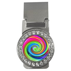 Rainbow Twist Money Clips (cz)  by norastpatrick
