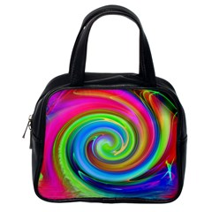 Rainbow Twist Classic Handbags (one Side) by norastpatrick