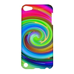 Rainbow Twist Apple Ipod Touch 5 Hardshell Case by norastpatrick