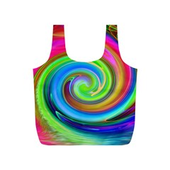 Rainbow Twist Full Print Recycle Bags (s)  by norastpatrick
