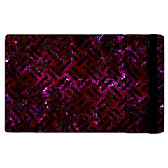 Woven2 Black Marble & Burgundy Marble (r) Apple Ipad 2 Flip Case by trendistuff