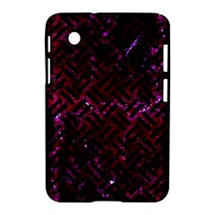 Woven2 Black Marble & Burgundy Marble (r) Samsung Galaxy Tab 2 (7 ) P3100 Hardshell Case  by trendistuff