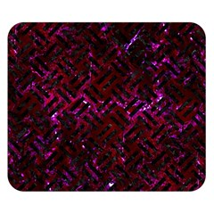 Woven2 Black Marble & Burgundy Marble (r) Double Sided Flano Blanket (small)  by trendistuff