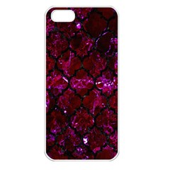 Tile1 Black Marble & Burgundy Marble (r) Apple Iphone 5 Seamless Case (white) by trendistuff