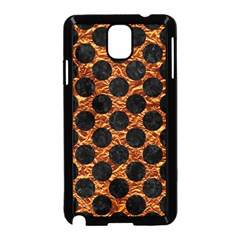 Circles2 Black Marble & Copper Foil (r) Samsung Galaxy Note 3 Neo Hardshell Case (black) by trendistuff