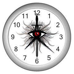 Inquisition Symbol Wall Clocks (silver)  by Valentinaart