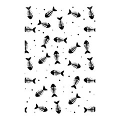 Fish Bones Pattern Shower Curtain 48  X 72  (small)