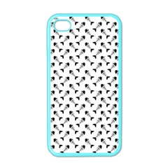 Fish Bones Pattern Apple Iphone 4 Case (color) by Valentinaart