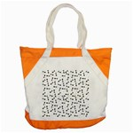 Fish bones pattern Accent Tote Bag Front