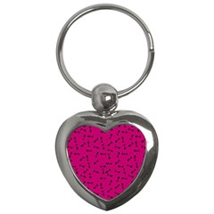 Fish Bones Pattern Key Chains (heart)