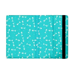 Fish Bones Pattern Apple Ipad Mini Flip Case by ValentinaDesign