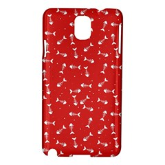 Fish Bones Pattern Samsung Galaxy Note 3 N9005 Hardshell Case by ValentinaDesign