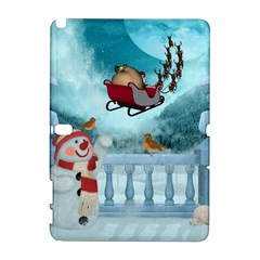 Christmas Design, Santa Claus With Reindeer In The Sky Galaxy Note 1 by FantasyWorld7