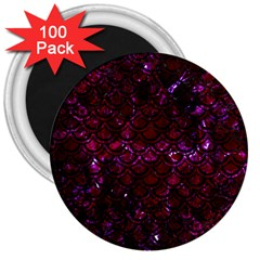 Scales2 Black Marble & Burgundy Marble (r) 3  Magnets (100 Pack) by trendistuff