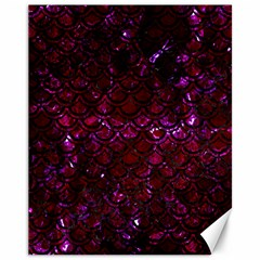 Scales2 Black Marble & Burgundy Marble (r) Canvas 11  X 14   by trendistuff