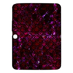 Scales2 Black Marble & Burgundy Marble (r) Samsung Galaxy Tab 3 (10 1 ) P5200 Hardshell Case  by trendistuff
