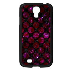 Circles2 Black Marble & Burgundy Marble Samsung Galaxy S4 I9500/ I9505 Case (black) by trendistuff