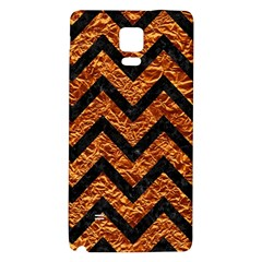 Chevron9 Black Marble & Copper Foil (r) Galaxy Note 4 Back Case by trendistuff