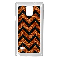 Chevron9 Black Marble & Copper Foil (r) Samsung Galaxy Note 4 Case (white) by trendistuff