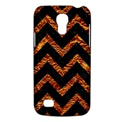 Chevron9 Black Marble & Copper Foil Galaxy S4 Mini by trendistuff