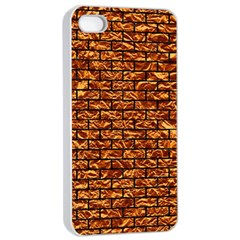 Brick1 Black Marble & Copper Foil (r) Apple Iphone 4/4s Seamless Case (white) by trendistuff