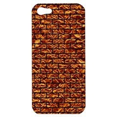 Brick1 Black Marble & Copper Foil (r) Apple Iphone 5 Hardshell Case by trendistuff